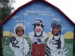 Sophie, Granddad & Grandma at Lindale Farm