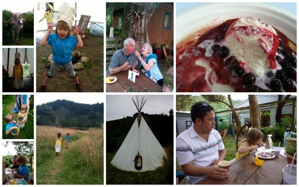 Blueberry farm with Grandma and Granddad