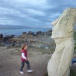 Walking round the point