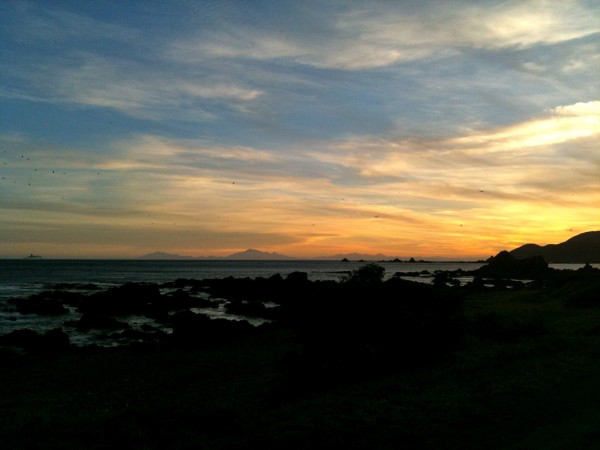 Sunset over Princess Bay