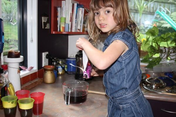 Charlotte making jelly