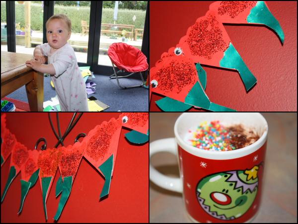 Pohutukawa decorations, Alice & fluffies!