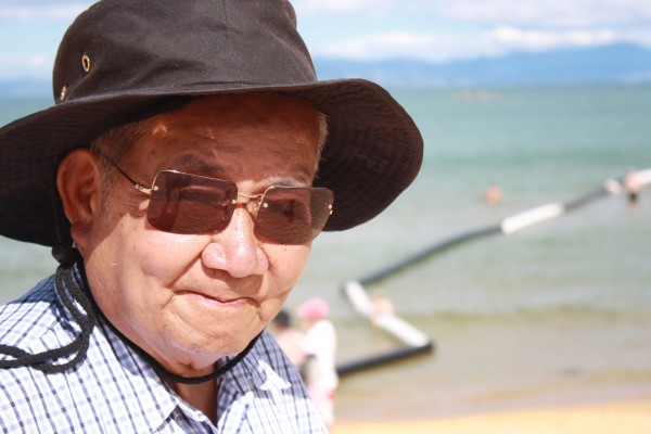 Chinese Granddad at Keiteriteri