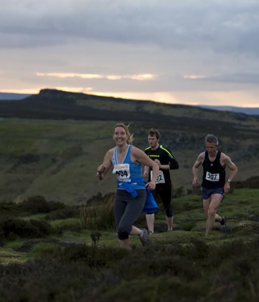 Fell race in the Peak District