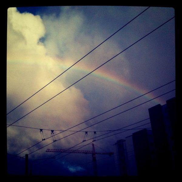Rainbow on a Friday morning