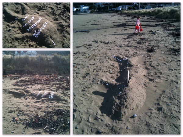 Creative beach treasure