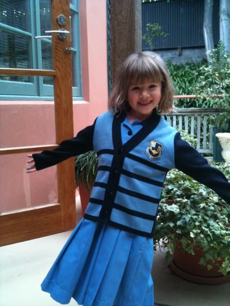 Sophie in her summer uniform