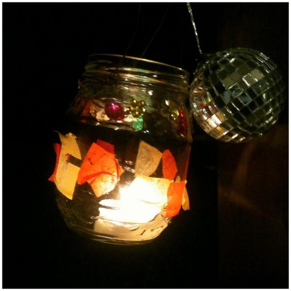 Beautiful little lantern made by 5 year old Jimmy