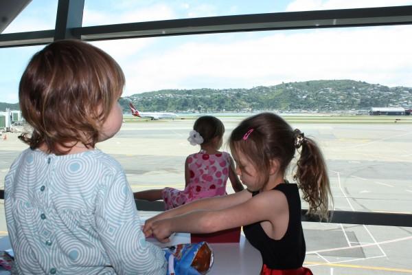Seeing their plane land