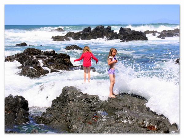 Wild waves on the south coast of Wellington