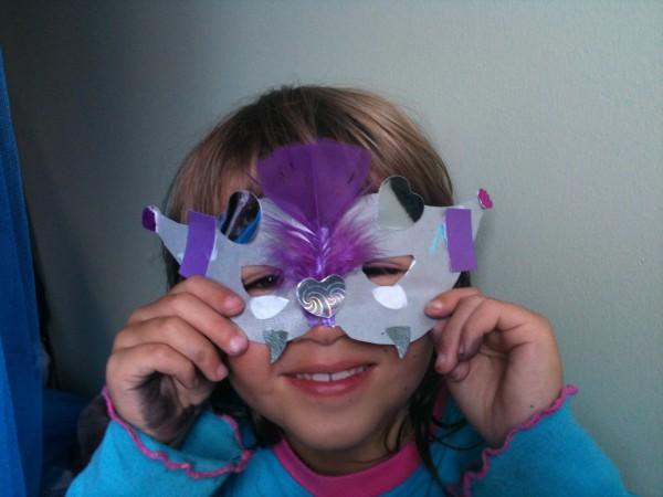 Sophie's Mardi Gras mask