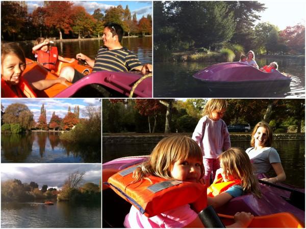 Pedalo fun on the lake at Queen Elizabeth Park in Masterton
