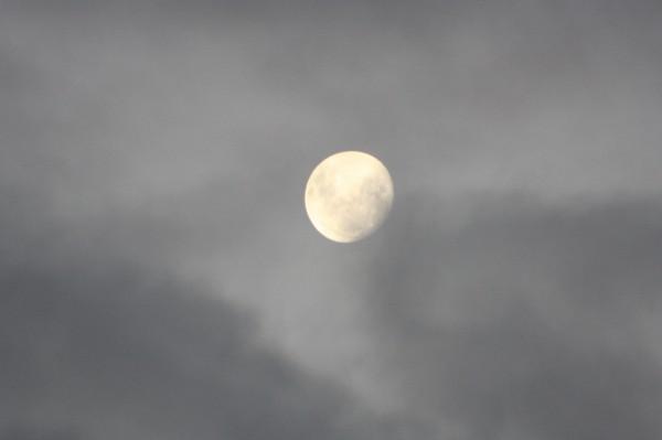 Nearing full moon