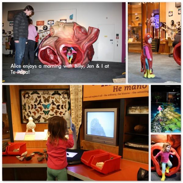 Alice loving Te Papa museum