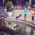 Mermaid wishing well at Ghiradelli Square