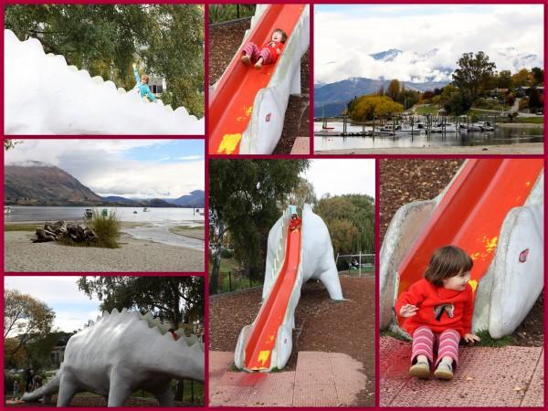 Playground on the shore of Lake Wanaka, New Zealand