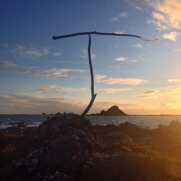 Light fading over Island Bay