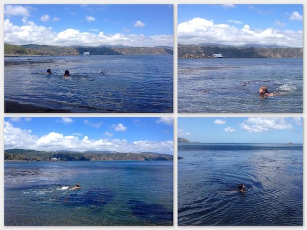 Swimming at Breaker Bay