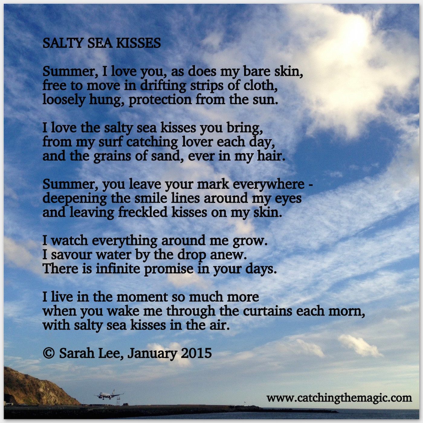 Salty Sea Kisses A Poem