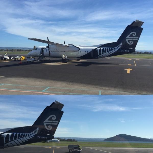 Landing at Rotorua Airport
