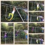 Swinging free in the garden