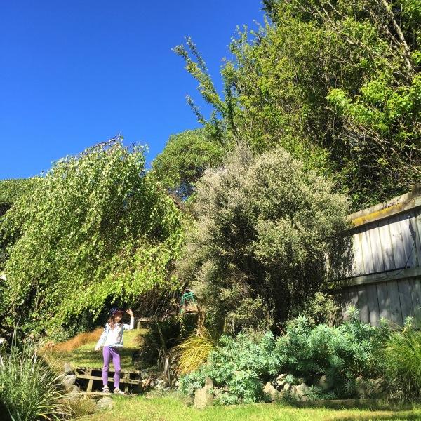 Alice in our garden