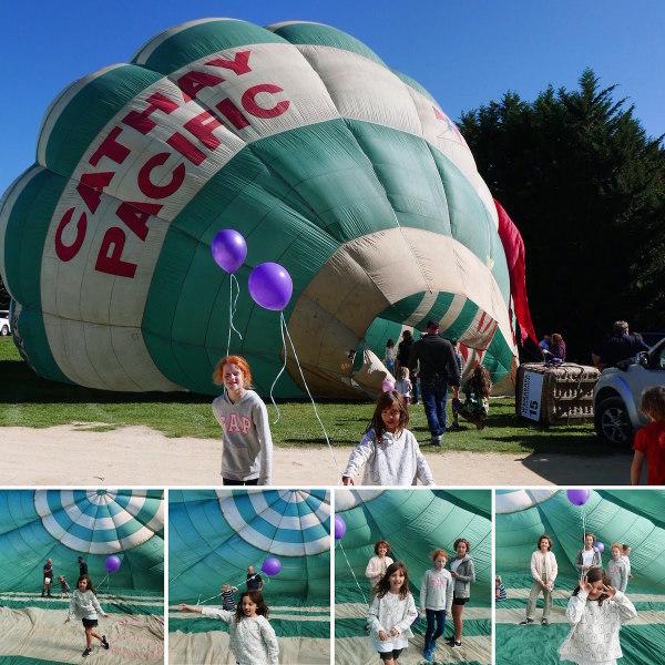At the TK Farmers Market in Martinborough - a visiting balloon!