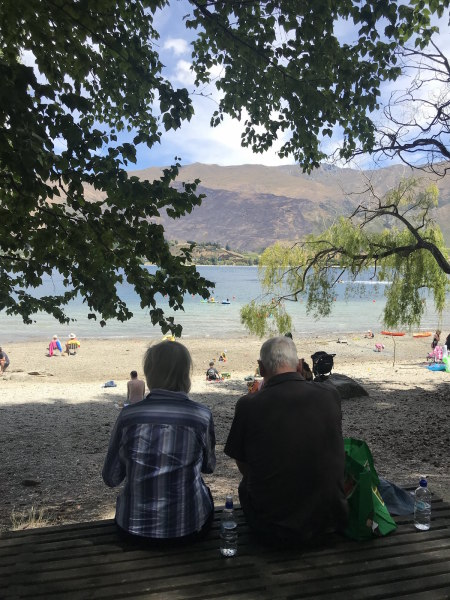 Grandma and Grandad enjoying the scenery