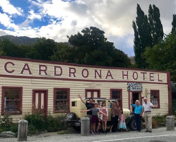 Outside the famous Cardona Hotel