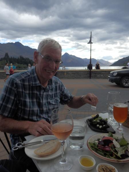 Grandad enjoying his Tapas at Eichardt's Bar, Queenstown